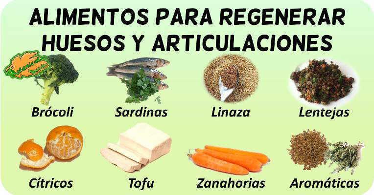alimentos para regenerar huesos y articulaciones