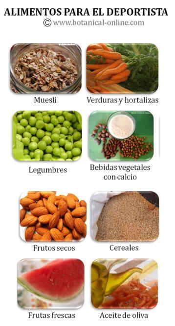 Alimentos para deportistas