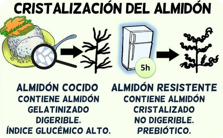 cristalizacion del almidon cocido a resistente