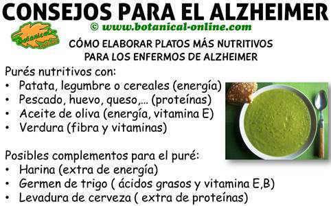 consejos y recetas en la alimentacion y dieta del alzheimer