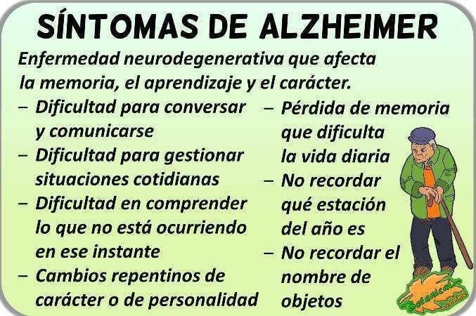 sintomas causas alzheimer