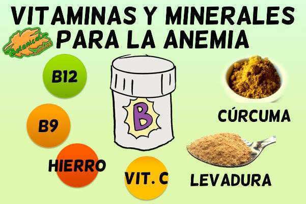 suplementos de vitaminas y minerales para la anemia