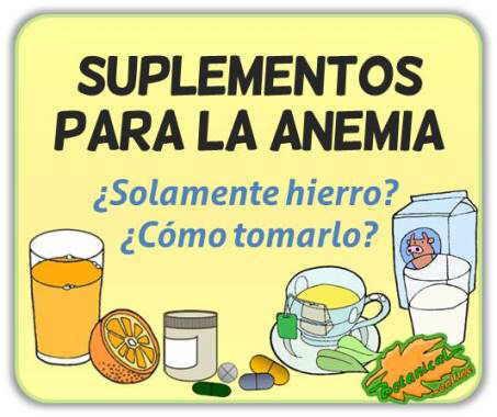 suplementos remedios para la anemia