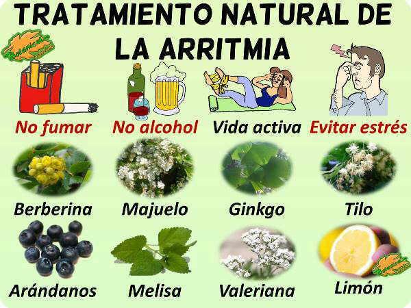 tratamiento natural arritmia corazon plantas medicinales y remedios