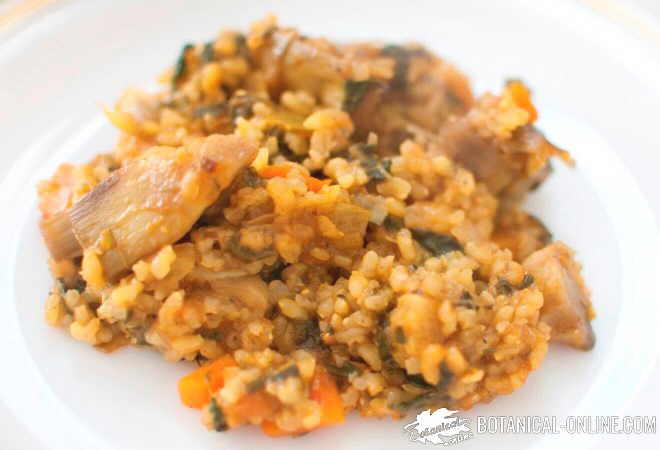 arroz integral verduras