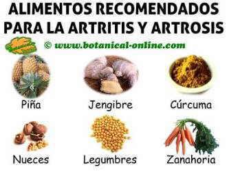 alimentos para la artritis y artrosis