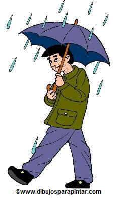 hombre con paraguas