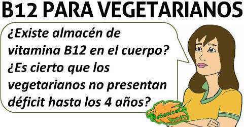 existe almacen de vitamina b12 en vegetarianos