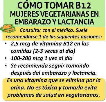 Como tomar suplementos de vitamina b12 o cobalamina en el embarazo y lactancia