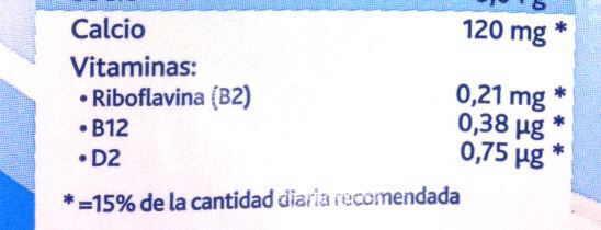 etiqueta bebida vegetal enriquecida en B12