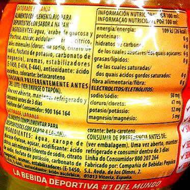 etiqueta bebida isotonica