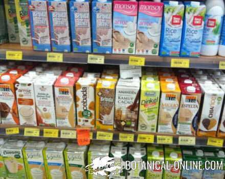 bebidas vegetales supermercado estante