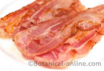 lonchas de bacon o beicon