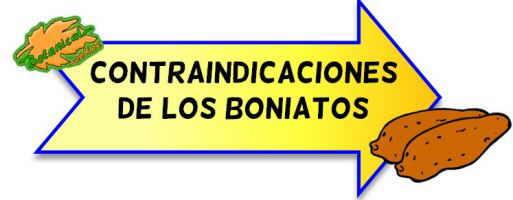 contraindicaciones del boniato