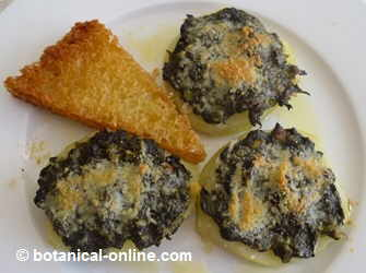 potatoes stuffed with borage and Parmesan