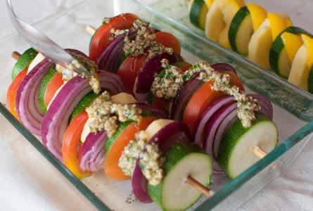 Brochetas de verduras al horno - Salsa para verduras al horno ...