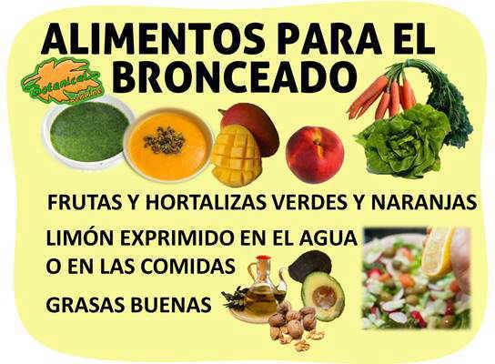 Alimentos y dieta para el bronceado de la piel morena