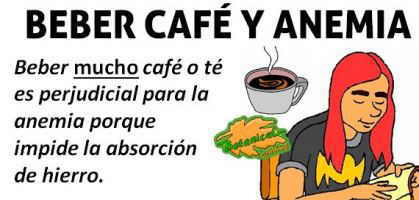 cafe y te para la anemia secuestran hierro