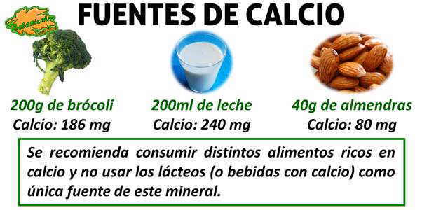 Dieta para la osteoporosis - Alimentos naturales ricos en calcio ...