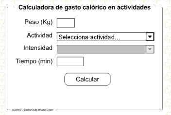 calcular gasto caloria: