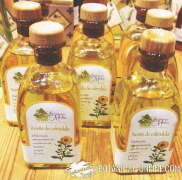 aceite cosmetico natural de calendula