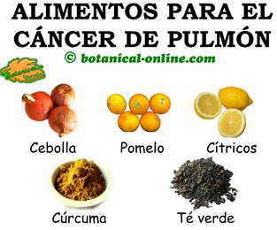 Alimentos para la dieta del cáncer de pulmón