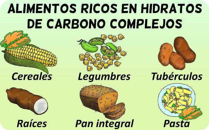 alimentos ricos en carbohidratos complejos