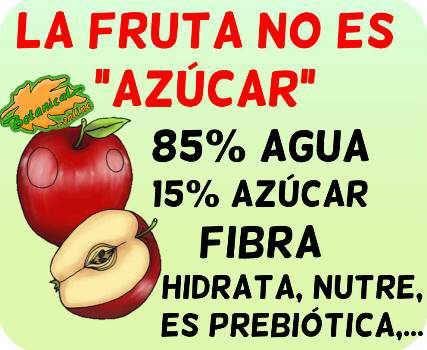 la fruta es azucar mito carbohidratos diabetes