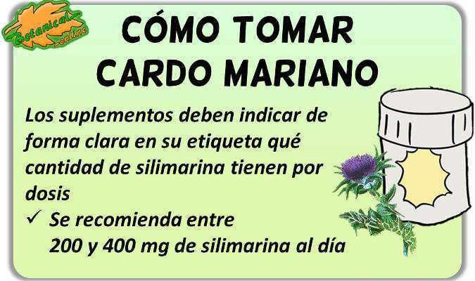 como tomar cardo mariano suplementos silimarina