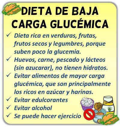 definicion de dieta alimentacion baja carga glucemica