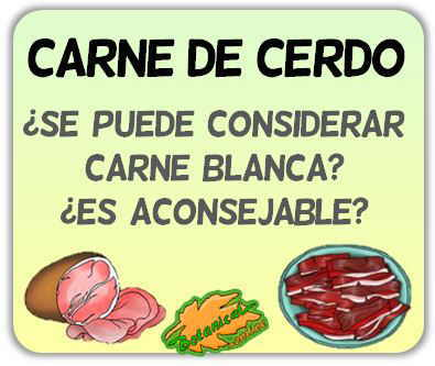 carne de cerdo blanca roja buena mala recomendable