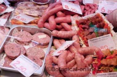 carne procesada fiambre jamon tipos salchichas