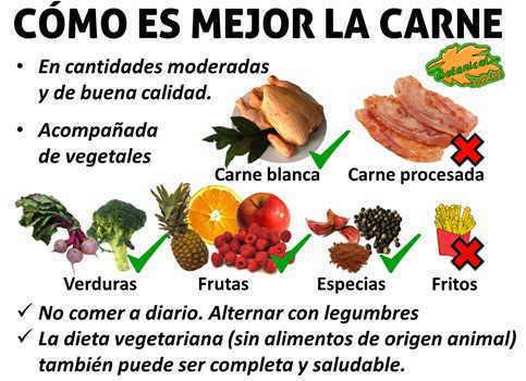 recomendaciones sobre el consumo de carne, como es mejor la carne