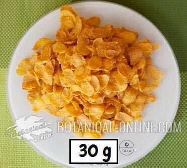 racion cereales desayuno de maiz 30 35 gramos