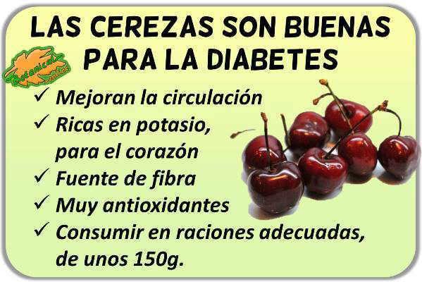 propiedades medicinales de las cerezas para la diabetes beneficios