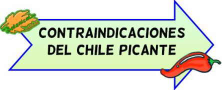 contraindicaciones del chile