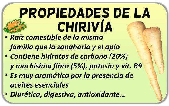 propiedades de la chirivia pastinaca sativa beneficios