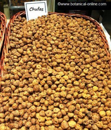 Chufas en mercado