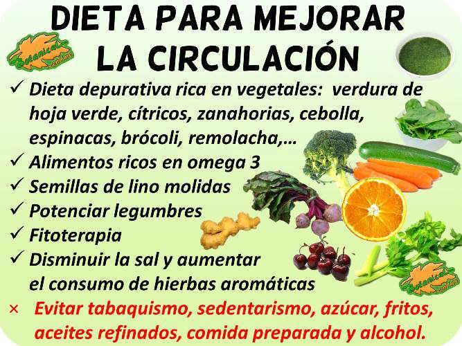 dieta para la circulacion