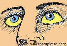 dibujo ictericia esclerotica ojos amarillos