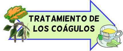 tratamiento natural de los coágulos