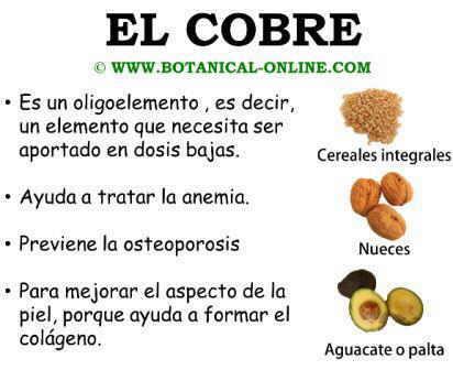 Propiedades del cobre para la salud