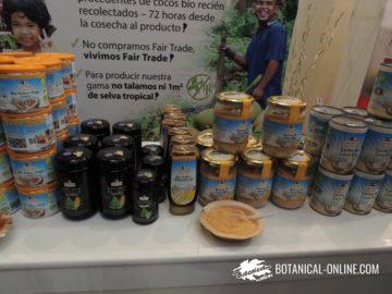 Productos elaborados con coco