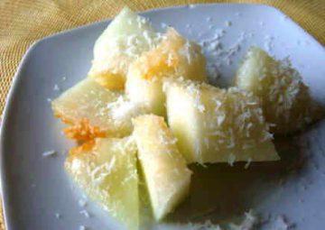melón con coco