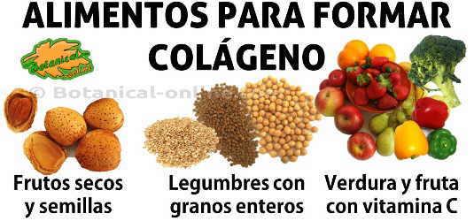 alimentos para la formación de colageno