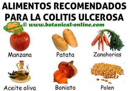 alimentos recomendados dieta colitis ulcerosa