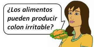 los alimentos pueden producir colon irritable, intolerancias alimentarias