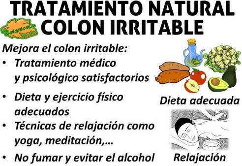 dieta para colon o intestino irritable, alimentos prohibidos y recomendados