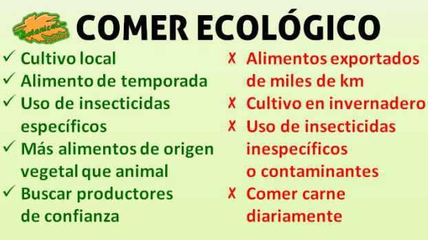 comer agricultura dieta ecologica bio organico definicion redaccion argumentos