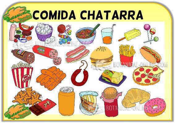 ejemplos de comida chatarra o comida basura rica en ultraprocesados, productos con mucha sal y azucar refinado